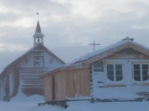 Fokstugu auf dem Dovrefjell im Dezember
